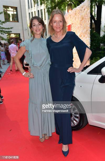 Bianca Hein and Carolin Fink attend the Red Summer Night by Bunte.de at Rocco Forte The Charles Hotel on July 09, 2019 in Munich, Germany.