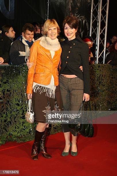 """Bianca Hein and Jennifer Hain at the European premiere of """"King Kong"""" in the theater at Potsdamer Platz Berlin."""
