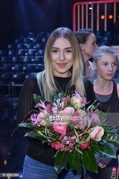 Bianca Heinicke alias Bibi during the TV Show 'Klein gegen Gross' on February 4 2018 in Berlin Germany
