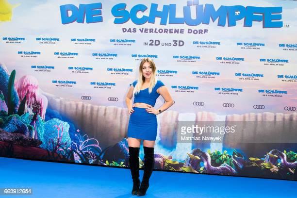 Bianca Heinicke attends the 'Die Schluempfe Das verlorene Dorf' Berlin Premiere at Sony Centre on April 2 2017 in Berlin Germany