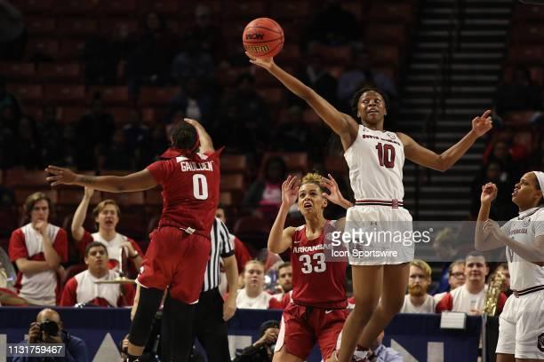 Bianca Jackson guard of South Carolina during the SEC Women's basketball tournament between the Arkansas Razorbacks and the South Carolina Gamecocks...