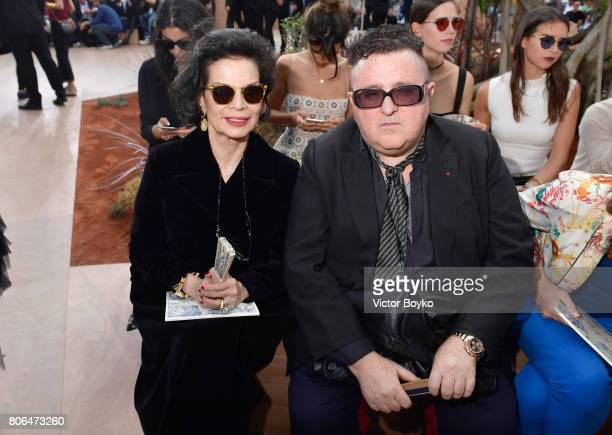 Bianca Jagger and Alber Elbaz attend the Christian Dior Haute Couture Fall/Winter 20172018 show as part of Haute Couture Paris Fashion Week on July 3...