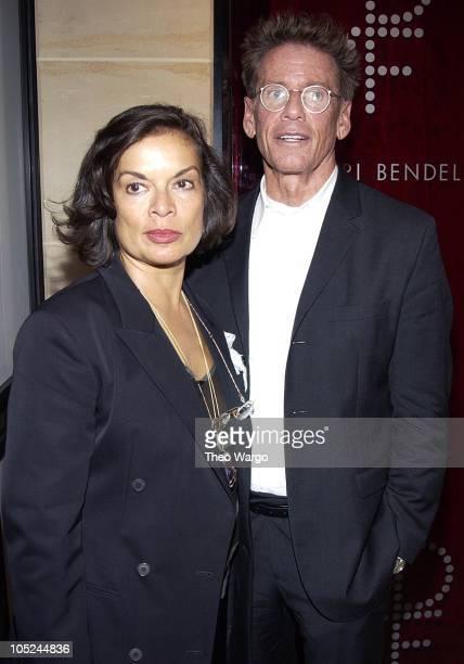 Bianca Jagger and Calvin Klein during Henri Bendel and Diane Von Furstenberg Launch DVF Beauty at Henri Bendel in New York City New York United States