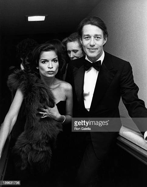 Bianca Jagger and Halston attend The Metropolitan Museum of Art Costume Institute Exhibition 'The Glory of Russian Costume' on December 6 1976 at the...