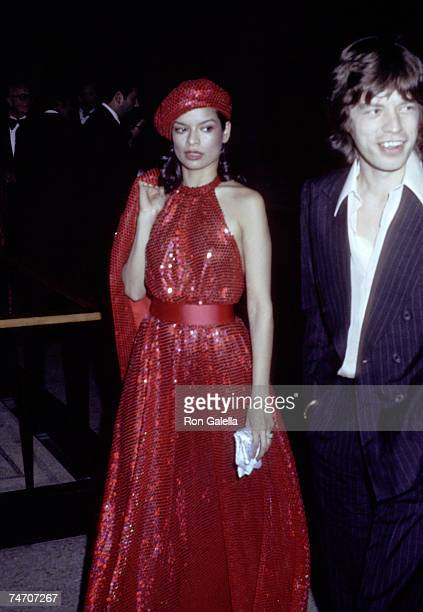 Bianca Jagger and Mick Jagger at the Metropolitan Museum of Art in New York City New York