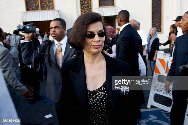 Bianca Jagger at the funeral services for Stanley 'Tookie' Williams at Bethel AME Church in South Central Los Angeles Approx 2000 people attended the...