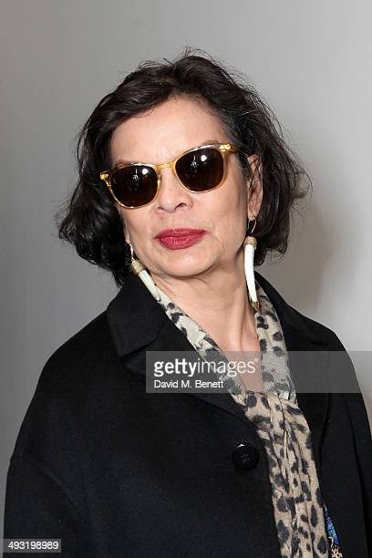 Bianca Jagger attends a private view of works by master sculptor Igor Mitoraj to launch Contini Art UK a new gallery opening on New Bond Street on...