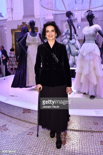 Bianca Jagger attends 'Christian Dior couturier du reve' Exhibition Launch celebrating 70 years of creation at Musee Des Arts Decoratifs on July 3...