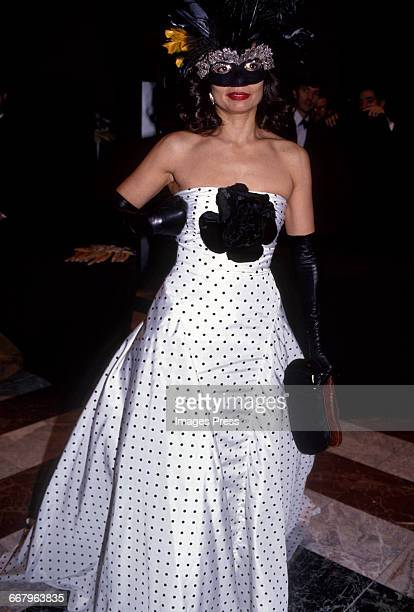 Bianca Jagger attends the 1989 Masquerade Ball Benefitting amfAR, The Foundation for AIDS Research at the Waldorf Astoria circa 1989 in New York City.