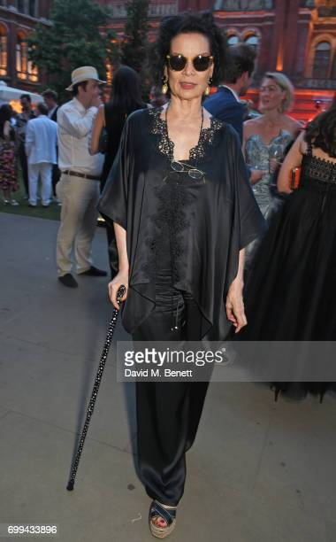 Bianca Jagger attends the 2017 annual VA Summer Party in partnership with Harrods at the Victoria and Albert Museum on June 21 2017 in London England