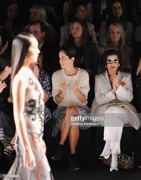 Bianca Jagger attends the Carolina Herrera show during Spring 2013 MercedesBenz Fashion Week at The Theatre Lincoln Center on September 10 2012 in...