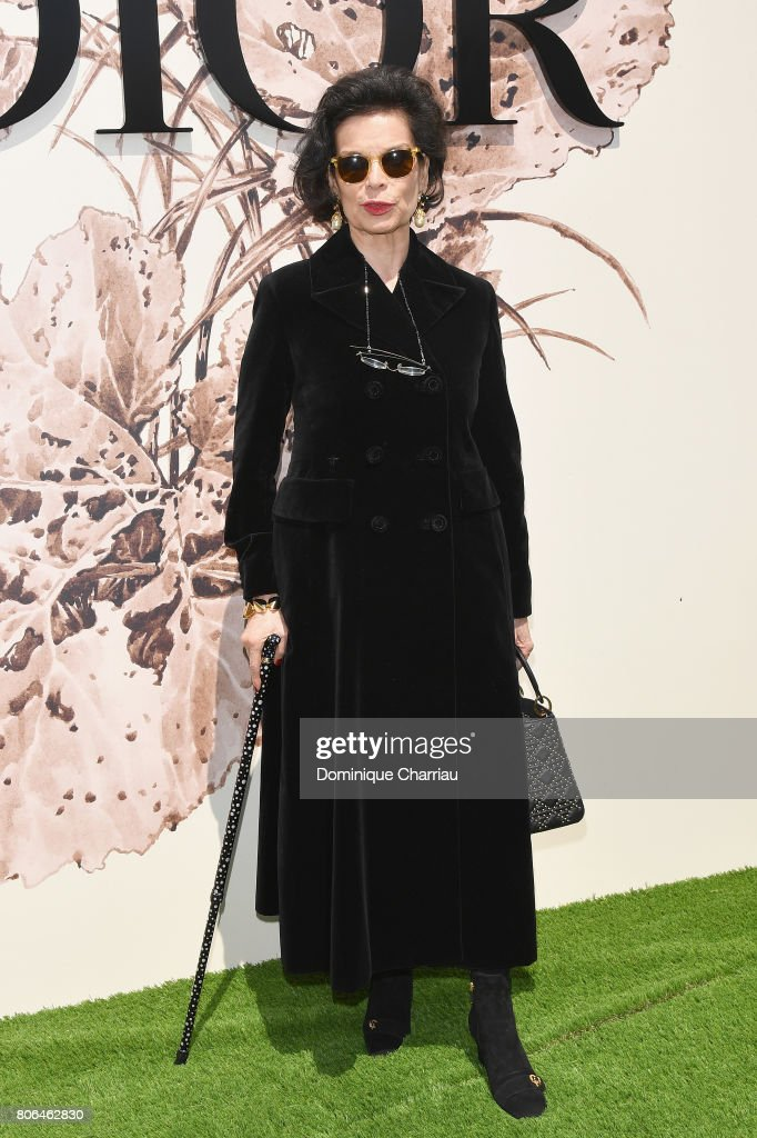Bianca Jagger attends the Christian Dior Haute Couture Fall/Winter 2017-2018 show as part of Haute Couture Paris Fashion Week on July 3, 2017 in Paris, France.