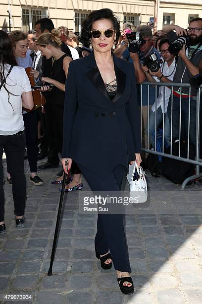 Bianca Jagger attends the Christian Dior show as part of Paris Fashion Week Haute Couture Fall/Winter 2015/2016 on July 6 2015 in Paris France