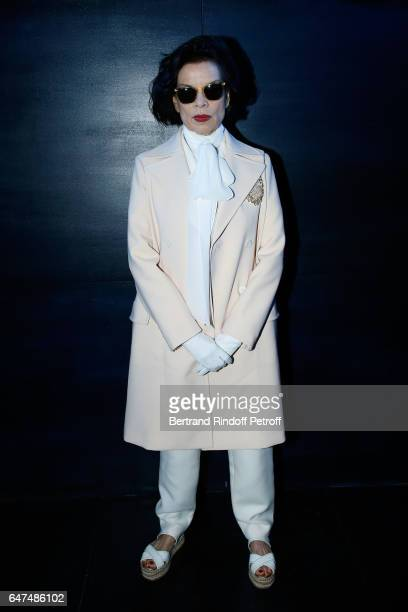 Bianca Jagger attends the Christian Dior show as part of the Paris Fashion Week Womenswear Fall/Winter 2017/2018 on March 3 2017 in Paris France