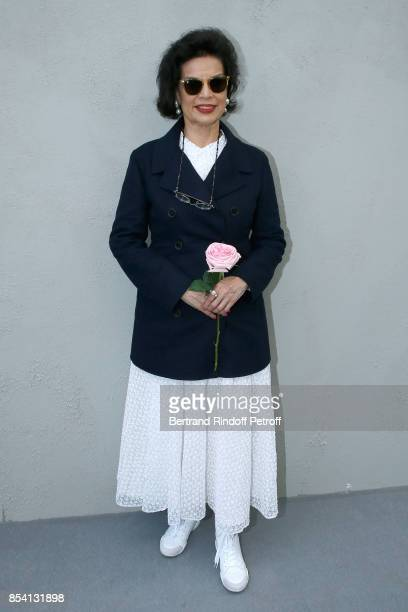 Bianca Jagger attends the Christian Dior show as part of the Paris Fashion Week Womenswear Spring/Summer 2018 on September 26 2017 in Paris France