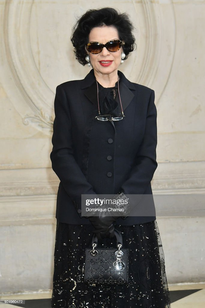 Bianca Jagger attends the Christian Dior show as part of the Paris Fashion Week Womenswear Fall/Winter 2018/2019 on February 27, 2018 in Paris, France.