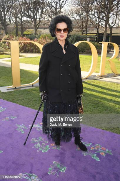Bianca Jagger attends the Dior Haute Couture Spring/Summer 2020 show as part of Paris Fashion Week at Musee Rodin on January 20 2020 in Paris France