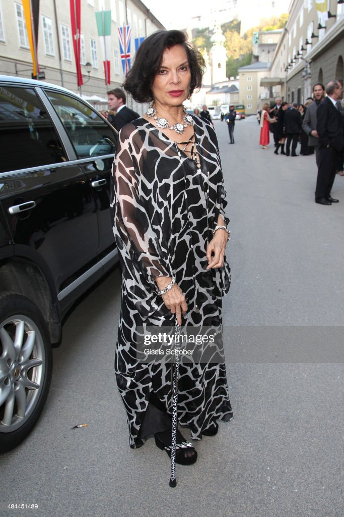 Bianca Jagger attends the opening of the easter festival 2014 (Osterfestspiele) on April 12, 2014 in Salzburg, Austria.