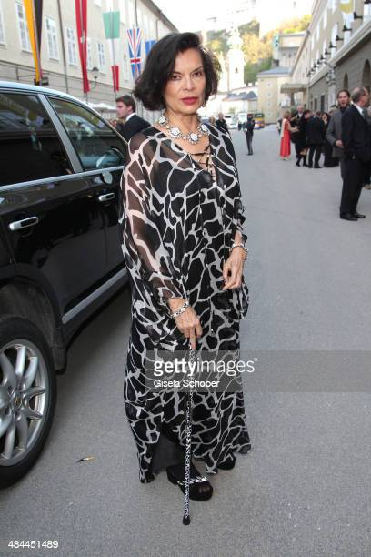 Bianca Jagger attends the opening of the easter festival 2014 on April 12 2014 in Salzburg Austria