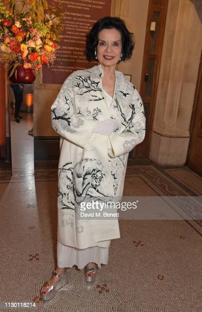 Bianca Jagger attends The Portrait Gala 2019 hosted by Dr Nicholas Cullinan and Edward Enninful to raise funds for the National Portrait Gallery's...