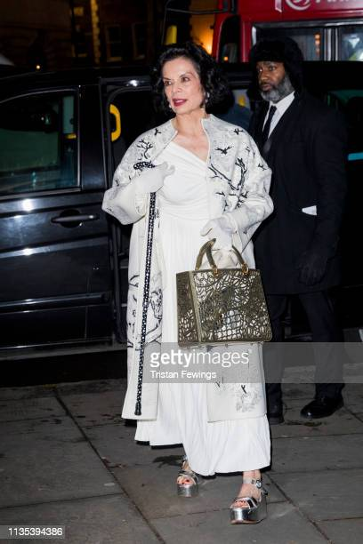 Bianca Jagger attends the Portrait Gala at National Portrait Gallery on March 12 2019 in London England