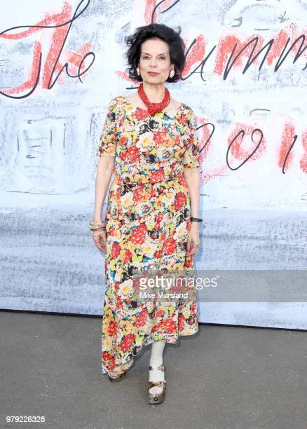 Bianca Jagger attends The Serpentine Summer Party at The Serpentine Gallery on June 19 2018 in London England