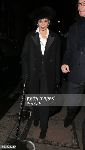 Bianca Jagger attends the Victoria Beckham Christmas Open House hosted by Victoria Beckham David Beckham and British Vogue at Victoria Beckham Dover...