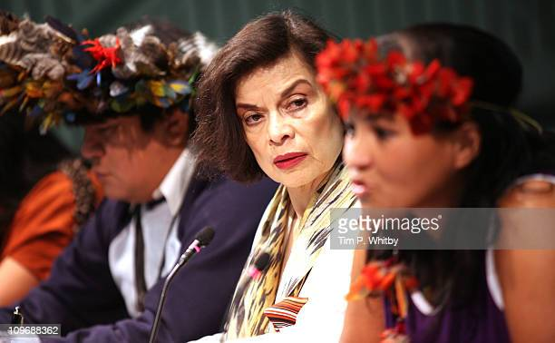 Bianca Jagger Founding Patron of the Bianca Jagger Human Rights Foundation and patron of the Amazon Charitable Trust attends photocall to highlight...