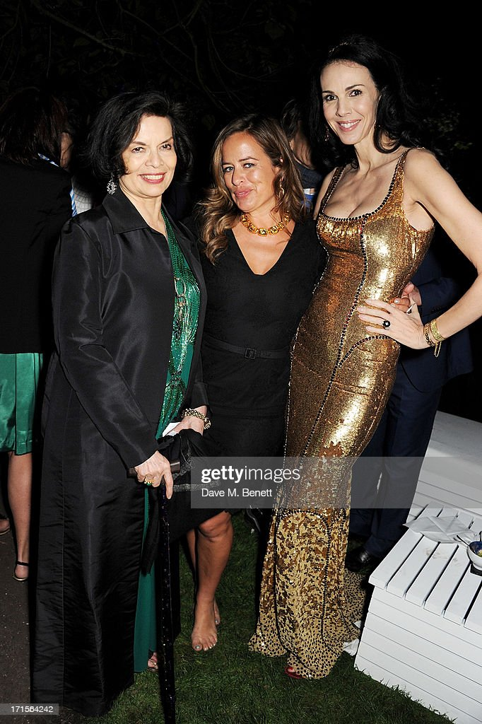 Bianca Jagger, Jade Jagger and L'Wren Scott attend the annual Serpentine Gallery Summer Party co-hosted by L'Wren Scott at The Serpentine Gallery on June 26, 2013 in London, England.