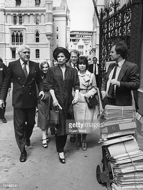 Bianca Jagger leaves the High Court in London during her divorce hearings against Mick Jagger, 9th July 1979.