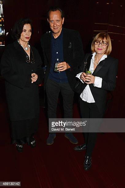 Bianca Jagger Richard E Grant and Joan Washington attend the Liberatum Cultural Honour for Francis Ford Coppola at The Bulgari Hotel on November 17...