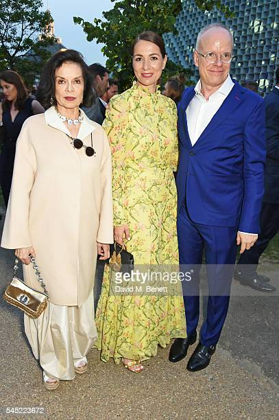 Bianca Jagger Yana Peel and HansUlrich Obrist attend The Serpentine Summer Party cohosted by Tommy Hilfiger on July 6 2016 in London England