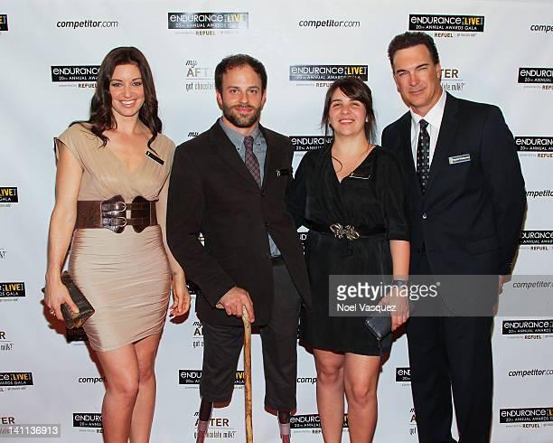 Bianca Kajlich Andre Kajlich his wife and Patrick Warburton attend the Endurance Live 20th Annual Awards Gala at Nokia Theatre LA Live on March 10...