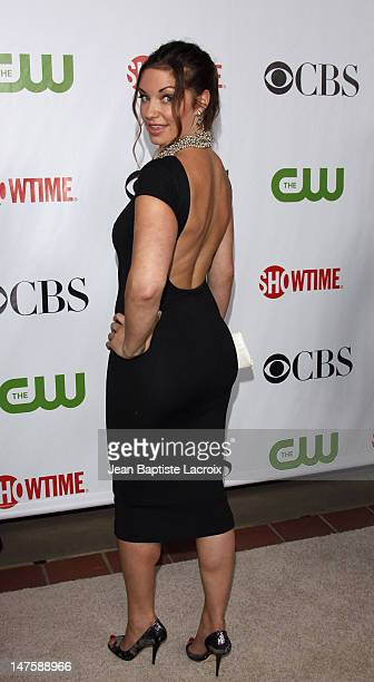 Bianca Kajlich arrives at the 2009 TCA Summer Tour CBS CW and Showtime AllStar Party at the Huntington Library on August 3 2009 in Pasadena California
