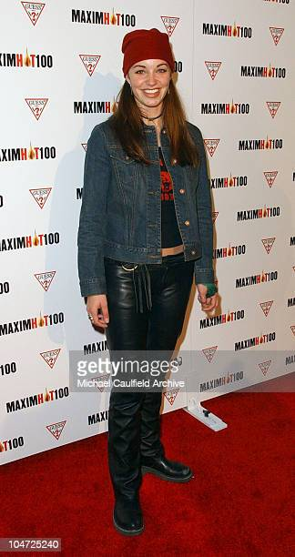 Bianca Kajlich during Maxim Hot 100 Party Arrivals at Yamashiro in Hollywood California United States
