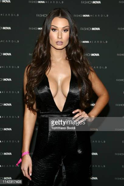 Bianca Kmiec arrives as Fashion Nova Presents Party With Cardi at Hollywood Palladium on May 8 2019 in Los Angeles California