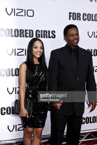 Bianca Lawson and Richard Lawson attend FOR COLORED GIRLS New York Special Screening at Ziegfeld Theater on October 25 2010 in New York City