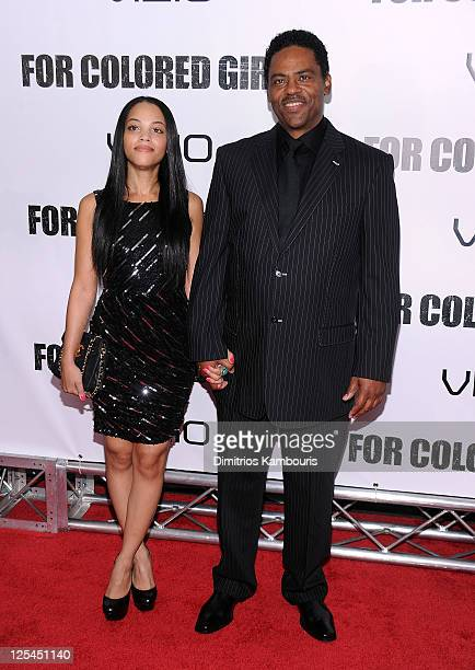 Bianca Lawson and Richard Lawson attend the premiere of 'For Colored Girls' at the Ziegfeld Theatre on October 25 2010 in New York City
