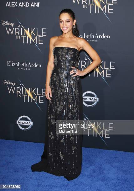 Bianca Lawson arrives at the Los Angeles premiere of Disney's 'A Wrinkle In Time' held at El Capitan Theatre on February 26 2018 in Los Angeles...