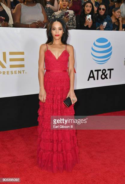 Bianca Lawson at the 49th NAACP Image Awards on January 15 2018 in Pasadena California