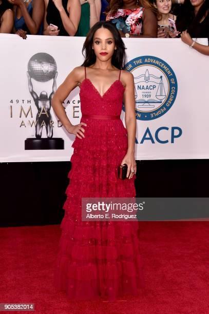 Bianca Lawson attends the 49th NAACP Image Awards at Pasadena Civic Auditorium on January 15 2018 in Pasadena California