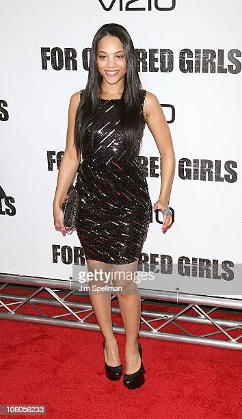Bianca Lawson attends the premiere of 'For Colored Girls' at the Ziegfeld Theatre on October 25 2010 in New York City