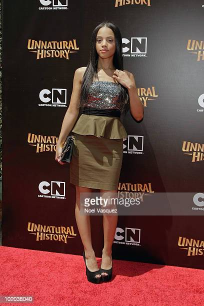 Bianca Lawson attends the premiere of The Cartoon Network's 'Unnatural History' at the Steven J Ross Theater on the Warner Bros Studios lot on June...
