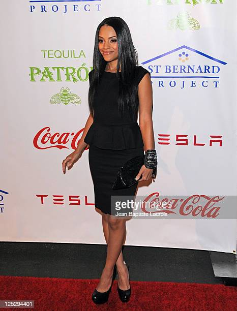 Bianca Lawson attends the St Bernard Project's 'The Homes That Hollywood Built' Benefit at Tesla Motors Showroom on October 9 2010 in Los Angeles...