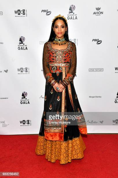 Bianca Lawson attends WACO Theater's 2nd Annual Wearable Art Gala on March 17 2018 in Los Angeles California