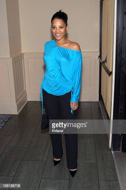 Bianca Lawson during 2003 WB UpFront After Party at Chelsea Piers in New York City New York United States