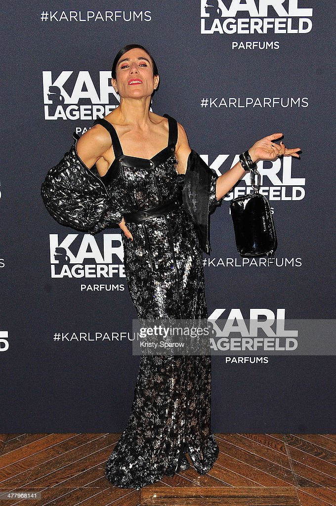 Karl Lagerfeld Launches New Perfume : Photocall At Palais Brogniart In Paris
