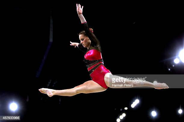 Bianca Mann of South Africa competes in the Women's AllAround Final at the SSE Hydro during day seven of the Glasgow 2014 Commonwealth Games on July...