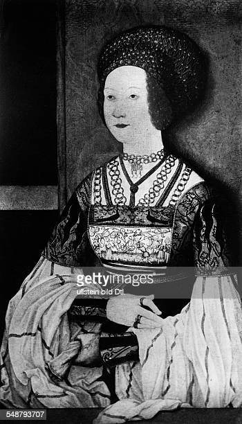 Bianca Maria Sforza *05.04.1472-31.12.1510+ - the second wife of Maximilian I, Holy Roman Emperor - painting by Bernhard Strigel - undated, about...