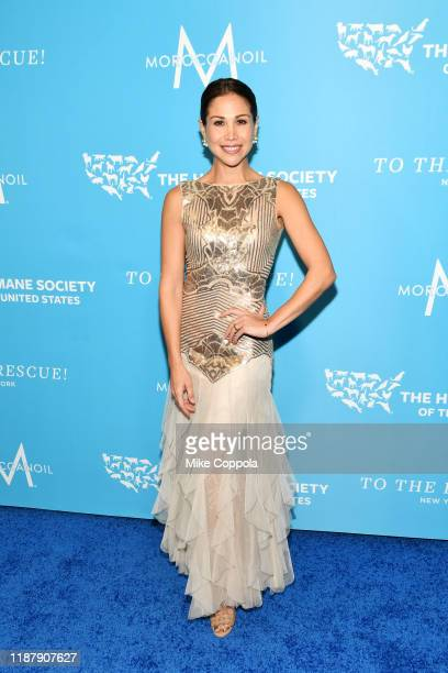 Bianca Marroquin arrives to the Humane Society Of The United States To The Rescue New York Gala 2019 at Cipriani 42nd Street on November 15 2019 in...